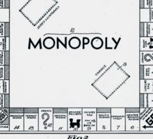 Monopoly Board Patent 1935 Sticker