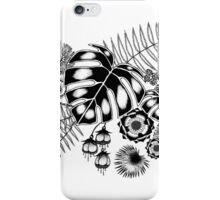 Tropical Leaves and Flowers iPhone Case/Skin