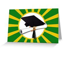 Green and Gold School Colors   Greeting Card