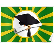 Green and Gold School Colors   Poster