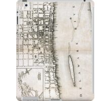 Plan of the city of Philadelphia - 1776  iPad Case/Skin