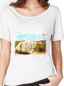 Arzachena: landscape with rock Women's Relaxed Fit T-Shirt