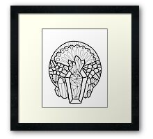 Crystal Coffin: Memento Mori Framed Print