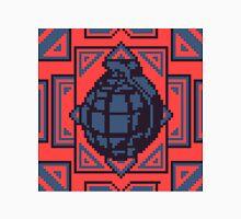 Grenade Pattern [Blue/Red] Unisex T-Shirt