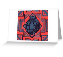 Grenade Pattern [Blue/Red] Greeting Card