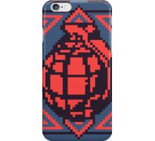 Grenade Pattern [Red/Blue] iPhone Case/Skin