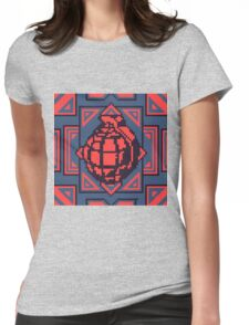 Grenade Pattern [Red/Blue] Womens Fitted T-Shirt