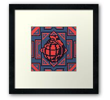 Grenade Pattern [Red/Blue] Framed Print