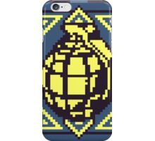 Grenade Pattern [Yellow/Blue] iPhone Case/Skin