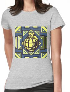 Grenade Pattern [Yellow/Blue] Womens Fitted T-Shirt