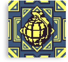 Grenade Pattern [Yellow/Blue] Canvas Print