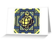 Grenade Pattern [Yellow/Blue] Greeting Card