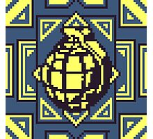Grenade Pattern [Yellow/Blue] Photographic Print
