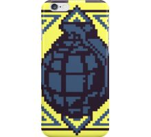 Grenade Pattern [Blue/Yellow] iPhone Case/Skin