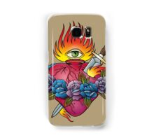 Flaming heart tattoo Samsung Galaxy Case/Skin