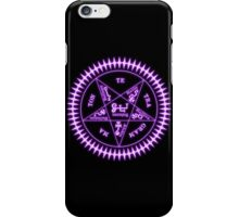 Sebastian Michaelis Sigil Light (black bg) iPhone Case/Skin