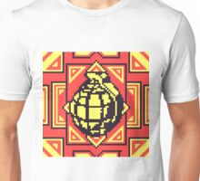 Grenade Pattern [Yellow/Red] Unisex T-Shirt