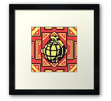 Grenade Pattern [Yellow/Red] Framed Print