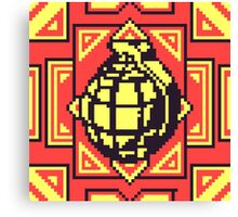 Grenade Pattern [Yellow/Red] Canvas Print
