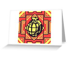 Grenade Pattern [Yellow/Red] Greeting Card