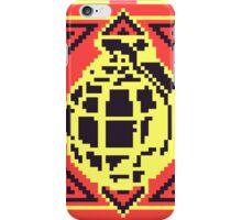 Grenade Pattern [Black/Red] iPhone Case/Skin