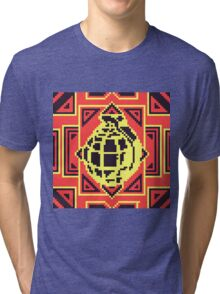 Grenade Pattern [Black/Red] Tri-blend T-Shirt