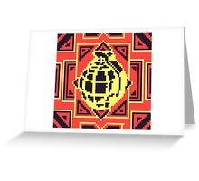 Grenade Pattern [Black/Red] Greeting Card