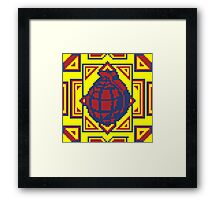 Grenade Pattern [Red/Yellow] Framed Print