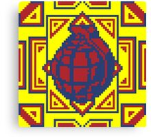 Grenade Pattern [Red/Yellow] Canvas Print