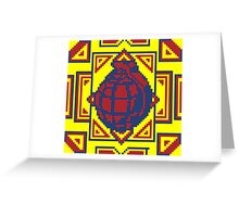 Grenade Pattern [Red/Yellow] Greeting Card