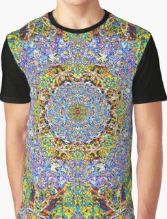 Blue Diamond Reflecting Yellow Graphic T-Shirt