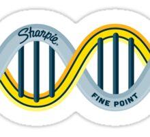 DNA Strands - Pencil and Sharpie Sticker
