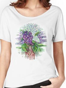 Lilac flowers Still life Women's Relaxed Fit T-Shirt