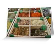 Dried Spice Mixes Greeting Card