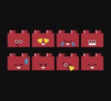 Emoji Building - Lego Kids Tee