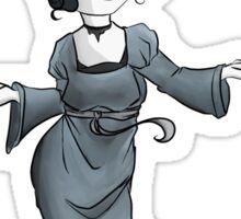 Woman in Gray Sticker