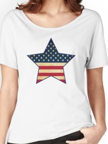 Star of American Flag Women's Relaxed Fit T-Shirt