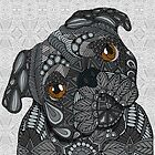 Cute black Pug by artlovepassion