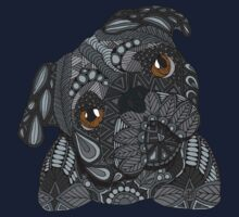 Cute black Pug Kids Tee