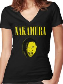 Nakamura 'Nevermind' mashup t-shirt Women's Fitted V-Neck T-Shirt