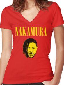 Nakamura 'Nevermind' mashup t-shirt Women's Fitted V-Neck T-Shirt
