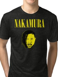 Nakamura 'Nevermind' mashup t-shirt Tri-blend T-Shirt