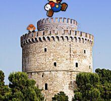 Super Mario goes to Thessaloniki Sticker