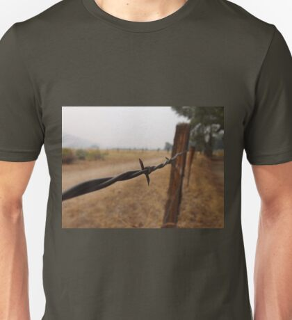 Barb Wire Fence Unisex T-Shirt