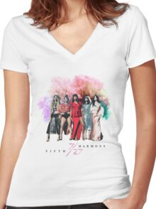 Fifth Harmony ~ 7/27 (Nature) Women's Fitted V-Neck T-Shirt