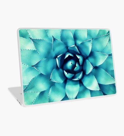 Macro Turquoise Plant Laptop Skin