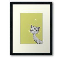 Three eyed kitty-cat Framed Print