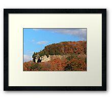 Niagara Escarpment covered by trees. Framed Print
