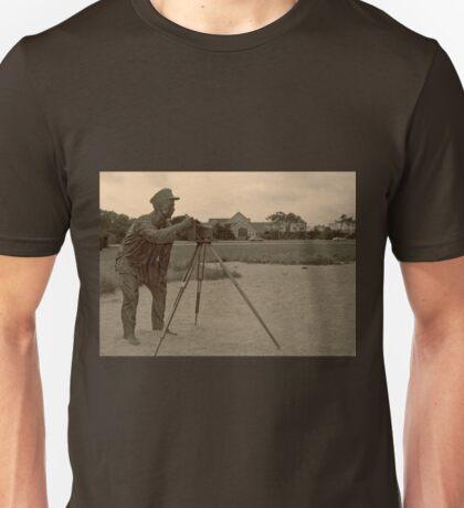 Photographer photographed at Kitty Hawk. Unisex T-Shirt
