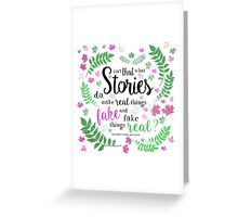 Isn't That What Stories Do: The Winner's Kiss in Ivory Greeting Card